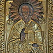 Greek Icon Of Saint Nicolas  Poster