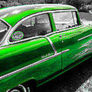 Green 1957 Chevy Poster
