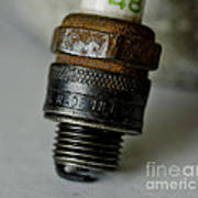 Green 48 Spark Plug Poster by Wilma  Birdwell