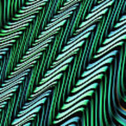 Green And Blue Folds Poster