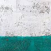 Green And White Wall Texture Poster