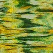 Green And Yellow Abstract Poster