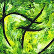 Green Apple Poster by Kamil Swiatek