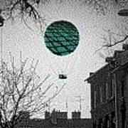 Green Balloon Poster