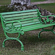 Green Bench Poster