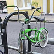 Green Bike Poster