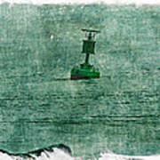 Green Buoy - Barnegat Inlet - New Jersey - Usa Poster