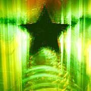 Green Christmas Star Poster by Gaspar Avila
