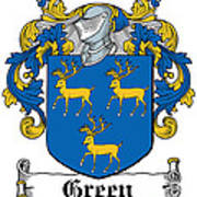Green Coat Of Arms Irish Poster