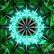 Green Compass Poster