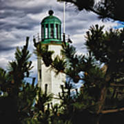 Green Copper Lantern Room On Scituate Lighthouse Poster