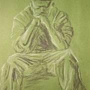 Green Figure I Poster