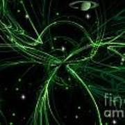 Green Galaxy Poster