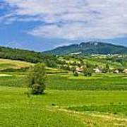 Green Hills Nature Panoramic View Poster