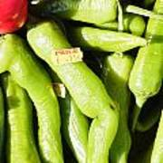 Green Jalpeno Peppers Poster