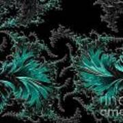 Green Paisley - A Fractal Abstract Poster