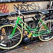Green Schwinn Bike  Nyc Poster
