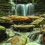 Green Spring Cascades Poster