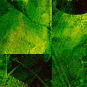 Green Square Abstract Poster
