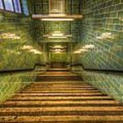 Green Stairs Poster