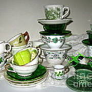 Green Teacups  Poster