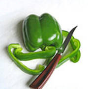 Green Veggie Munchie Poster