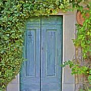 Green Wood Door Of Tuscany Poster
