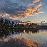 Greenlake Autumn Sunset Poster