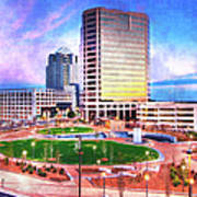 Greensboro Center City Park II Poster