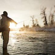 Greg Houska Fly Fishing On The Provo Poster