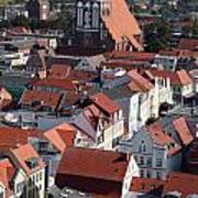 Greifswald Roofscape Pomerania Poster