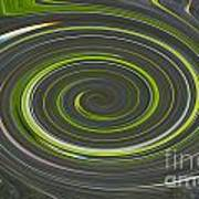Grey And Green Twirl Poster