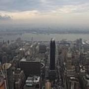 Grey Sky Over Manhattan Poster