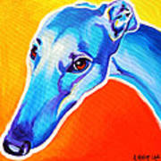 Greyhound - Lizzie Poster by Alicia VanNoy Call