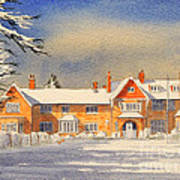 Griffin House School - Snowy Day Poster