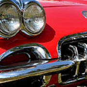 Grille On A 1960 Corvette Poster