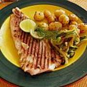 Grilled Fish Poster