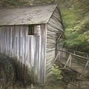 Grist Mill At Cades Cove Poster