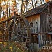 Grist Mill With A Golden Glow Poster