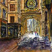 Gros Horlaoge Rouen France Poster