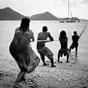 Gros Islet Fishermen Poster