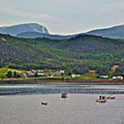 Gros Morne Mountain Over Bonne Bay At Norris Point In Gros Morne Np-nl Poster