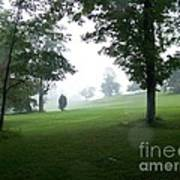 Grossinger Golf Course Rainy Day  Poster by Kevin Croitz