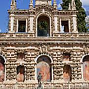Grotesque Gallery In Real Alcazar Of Seville Poster