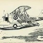 Grumman J2f-2a  Amphibian Poster