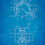 Grumman Retractable Landing Gear Patent Art 1932 Blueprint Poster by Ian Monk