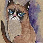 Grumpy Cat Is Watching You Poster