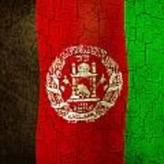 Grunge Afghanistan Flag Poster