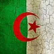 Grunge Algeria Flag Poster