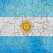 Grunge Argentina Flag Poster